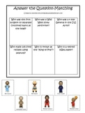 Influential African American Men themed Answer the Question printable game.
