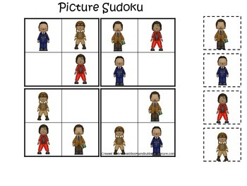 Influential African American Men themed Picture Sudoku pri