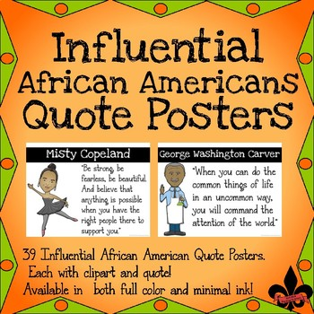Influential African Americans Quote Posters--set of 39