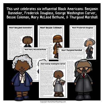 Celebrate Influential Black Americans Bundle with 6 Biography Units in all!