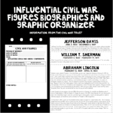 Influential Civil War Figures Biographies and Graphic Organizer