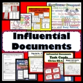 Influential Documents Bundle Coloring Pages Brochure Worksheet SS.7.C.1.2 Civics