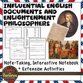 English Documents & Enlightenment Philosophers Note-taking Activities