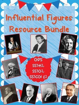 Influential Figures Resource Bundle-SSH32, SSG32, SSCG31, & SSCG32