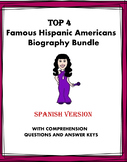 Spanish Reading Bundle: Top 4 Hispanic-Americans Biografías at 35% off!