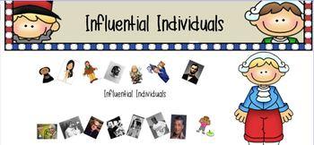 Influential Individuals History VA SOL 1.2 , 1.3, and 2.4