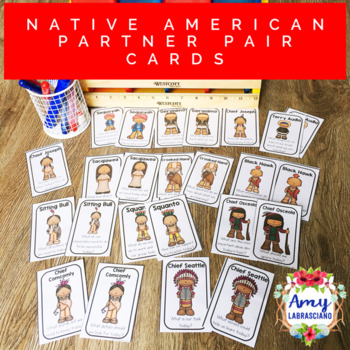 Influential Native Americans Partner Pairing Cards with Engagement Questions