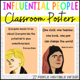 Influential People Classroom Posters