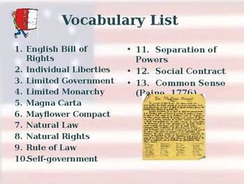 Influential People & Historical Documents - Vocabulary Exercise