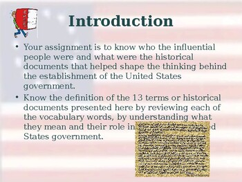 Influential People & Historical Documents & Unit Vocabulary Exercise