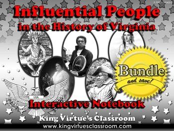 Influential People: Interactive Notebook BUNDLE - Maggie L Walker Pocahontas etc