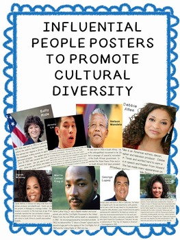 Influential People Posters to promote cultural diversity