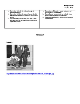 Influential People in the Community (Martin Luther King, Ruby Bridges, Caesar Ch
