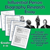 Biographical Research Essay for Influential Famous Person