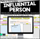 Influential Person Research Project   Wax Museum   for Distance Learning