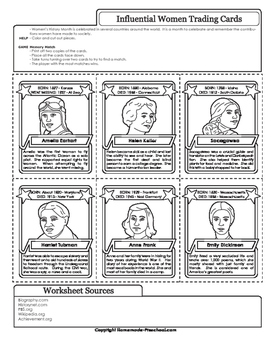 Influential Women Trading Cards - Women's Month