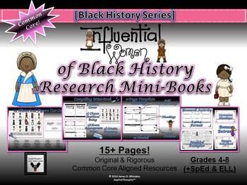 Influential Women of Black History Research Mini-Books Activity Common Core