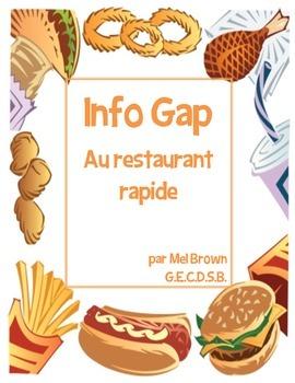 Info Gap - Au restaurant rapide (Fast Food partner activity)