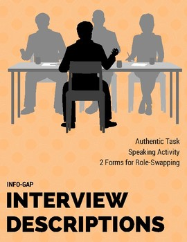 Info Gap Interview with Descriptions for Novice Spanish