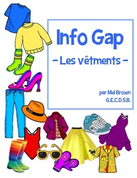 Info Gap - Les vêtements (Clothing partner activity)