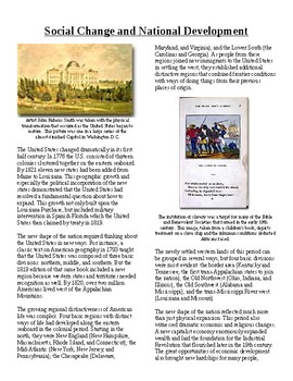 Info Read Text-1800's National Development: Social Change National Development