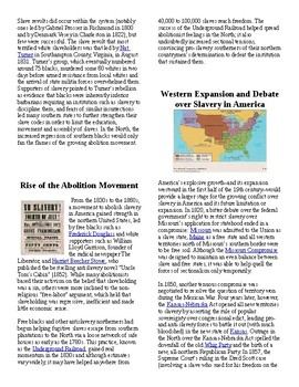 Info Read Text- Foundations of Slavery in America: Black History Month (no prep)