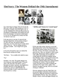 Info Read Text/Vocab - Women's History Month: The 19th Amendment (no prep/sub)