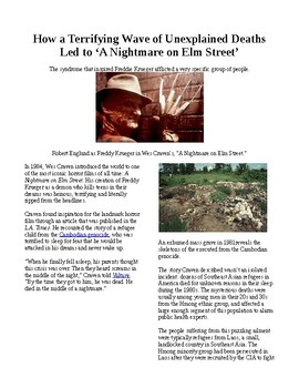 """Info Reading-Halloween: Real Cambodian terror leads to """"Nightmare on Elm Street"""""""