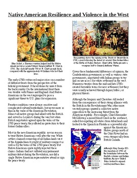 Info Reading Text -1790's Unsettled Issues: Native American Resistance (no prep)