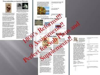 Info Reading Text - 1800's Reforms Bundle (no prep/sub plans)