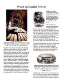 Info Reading Text - 1800's Reforms: Prison and Asylum Reform (no prep/sub plan)