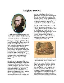 Info Reading Text - 1800's Reforms: Religious Revival (no prep/sub plans)