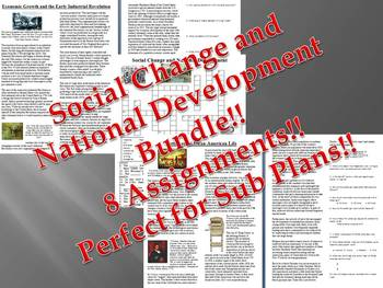 Info Reading Text - 1800's Social Change and National Development Bundle