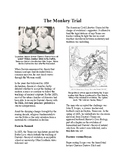 Info Reading Text - 1920's Old Values v. New Values: The Scopes Monkey Trial