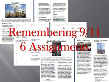 Info Reading Text/Vocab - September 11 Bundle (5 Articles - no prep/sub plans)