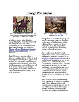 Info Reading Text - A Brief Summary of George Washington (no prep/sub plans)