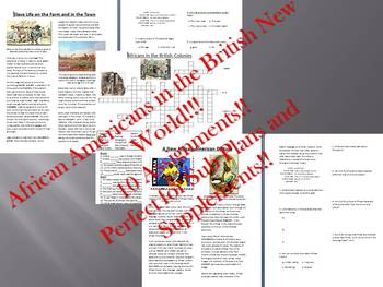 Info Reading Text - African Americans in New World Bundle (no prep/sub plans)