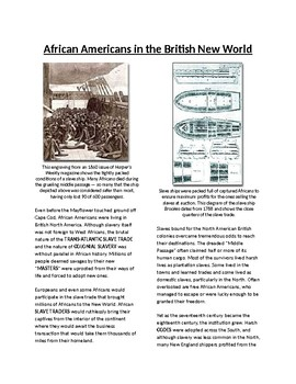 Info Reading Text - African Americans in the British New World (no prep/sub plan