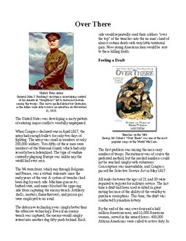 Info Reading Text - America in the First World War: Over There (no prep/sub plan