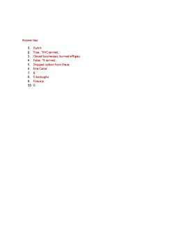 Info Reading Text - American Cities: New York City (no prep/sub plans)