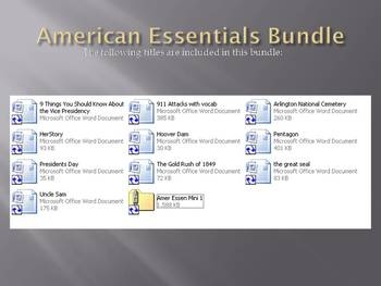 Info Reading Text - American Essentials Mini Bundle: Save $7! (no prep/sub plans