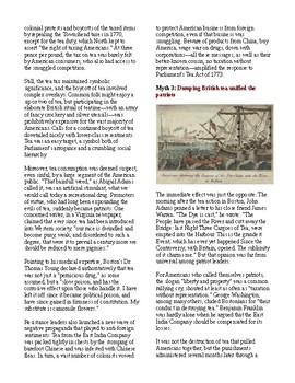 Info Reading Text - American Revolution: Debunking Boston Tea Party Myths