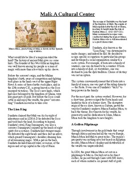 Info Reading Text - Ancient Africa: The Kingdom of Mali (no prep/sub plans)