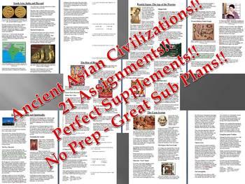 Info Reading Text - Ancient Asian Empires (no prep/sub plans)