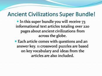 Info Reading Text - Ancient Civlizations Super Bundle (no prep/sub plans)