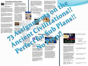 Info Reading Text - Ancient Civlizations Super Bundle: Save $65!! (no prep/sub)