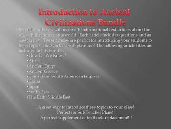 Info Reading Text - Ancient Empires Bundle (no prep/sub plans)