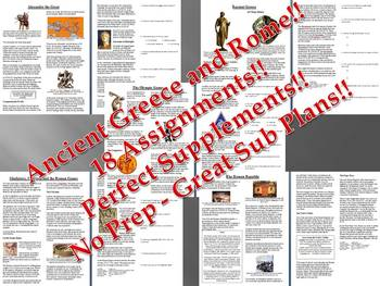 Info Reading Text - Ancient Greece and Rome (no prep/sub plans)