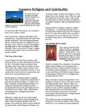 Info Reading Text - Ancient Japan: Religion and Spirituality (No Prep/Sub Plans)