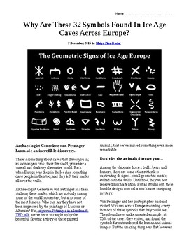Info Reading Text - Ancient People: The 32 Symbols found in Caves in Europe